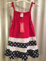 Gymboree Red, White, Blue, Cotton, Stars & Stripes Sleeveless Dress 12-1... - $25.00