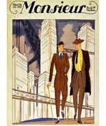 """11x14""""Decor Canvas.Interior design Art Nouveau.Deco fashion men.Style.6277 - $28.05"""