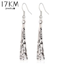 17KM® Long Hollow Vintage Silver Color Tassel Drop Earring Bohemia Fashi... - $3.94