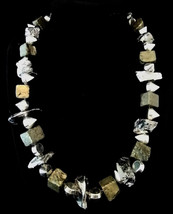 """19 1/2"""" Pyrite nugget, silver ore & silver spike necklace - $75.00"""