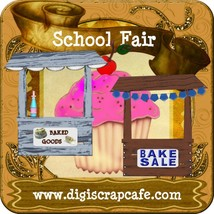 School Fair Scrapbooking Template Kit - $4.99