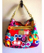 Authentic and Genuine COACH Gold Trim Daisy Poppy Hobo Handbag - $150.00