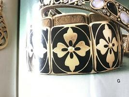 Lia Sophia Midnight Clover Stretch Bracelet - $12.86