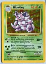 Nidoking - Base Set - 11/102 - Holo-foil Rare -  Pokemon Card - Lightly Played - $9.89