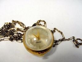 HENO Vintage Spherical Hand-Winding Pocket Watch & Chain - $89.09