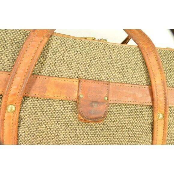 "Hartmann Luggage 21"" Tweed & Leather Vintage Carry on image 12"