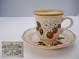 Mikasa Strawberry Festival Cup and Saucer - $9.99