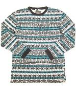 NWT $35 Topman by Topshop Oversized Aztec Print Long Sleeve T Shirt XXS - $17.80