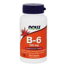 NOW Foods Vitamin B6 100 mg., 100 Capsules - $8.69