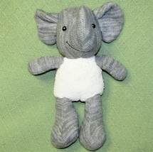 "13"" SPARK Plush Elephant Rattle Grey Knit Stuffed BABY Animal Toy Create... - $20.79"