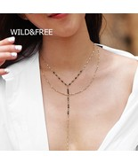 WILD & FREE New Bohemia Style 2 Layer Long Chain Necklace For Women Gold... - $10.09