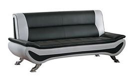 Homelegance Veloce Two Tone Modern Low Profile Sofa, Black - $1,186.19