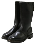 New Genuine Leather Black German Military Boots - $84.21