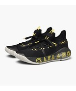 Under Armour UA Curry 6 Oakland 3020612-006 Black/Yellow/White Size 12 NWB - $104.99