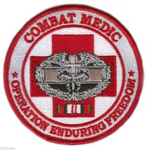 COMBAT MEDIC OPERATION ENDURING FREEDOM BADGE RIBBON EMBROIDERED MILITAR... - $23.74