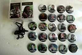 "WALKING DEAD, Lot of 23, Pin Back, 2 1/4"" Buttons Badges plus lanyard  - $24.99"