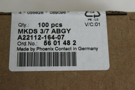 Phoenix Contact MKDS 3/7 ABGY, 5601482 PCB Screw Terminals New Pack of 100  image 2