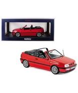 1995 Volkswagen Golf Cabriolet Red 1/18 Diecast Model Car by Norev - $96.02