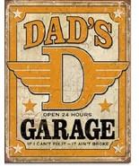 New Dad's Garage If I Can't Fix it it Ain't Broke Decorative Metal Tin Sign - $9.41