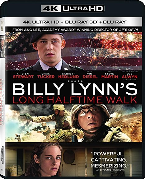 Billy Lynn's Long Halftime Walk [4K Ultra HD + 3D + Blu-ray, 2017]