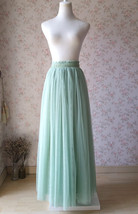 SAGE GREEN Bridesmaid Tulle Skirt Sage Green 2020 Wedding Outfit High Waist Maxi image 2