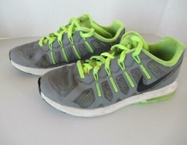 Nike Max Dynasty sneaker 3Y youth gray neon green boy girl - $17.59