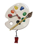 "Allen Designs ""Art Time"" Whimsical Artist Palette Pendulum Wall Clock - $55.44"