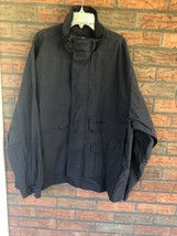 Timberland Black Medium Jacket Weather Gear Full Zip Windbreaker Nylon EUC - $19.80