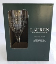 Lauren Ralph Lauren Cocktail Party Set of 4 Crystal Goblets - Set of 4 - $129.50