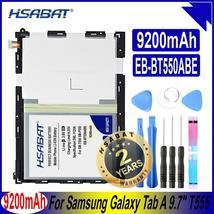 "HSABAT EB-BT550ABE 9200mAh Top Capacity Battery for Samsung Galaxy Tab A 9.7"" SM - $35.79"
