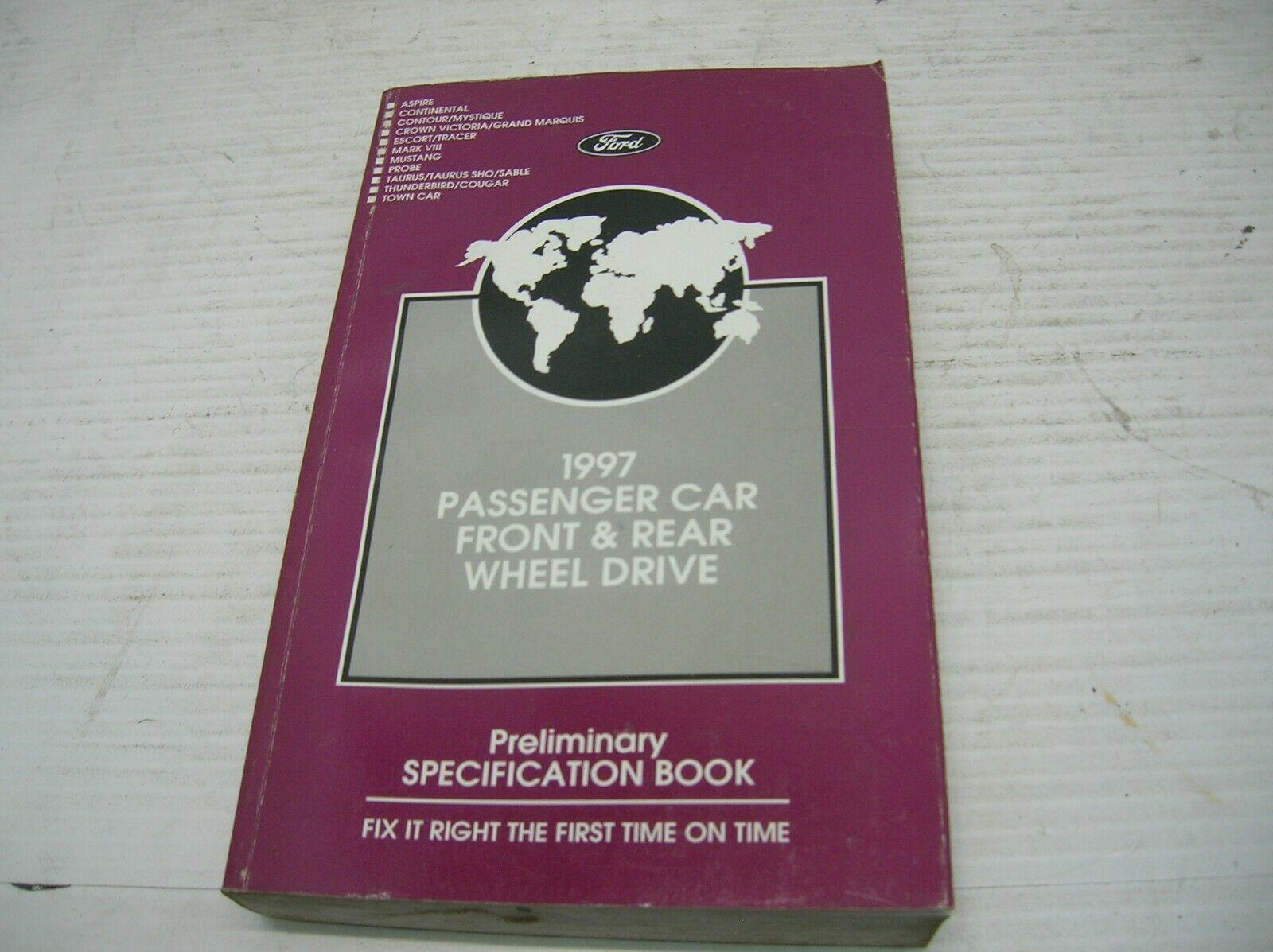 1997 FORD ASPIRE Service Repair Shop Manual OEM 97 FORD MOTOR ...