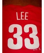 PHILADELPHIA PHILLIES CLIFF LEE #33 MLB BASEBALL T-Shirt MENS LARGE NEW ... - $19.80