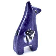 SMOLArt Hand Carved Soapstone Dark Purple Giraffe Mini Miniature Figure Kenya image 3