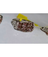 RARE COLOR CHANGE BEKILY BROWN GARNET OVAL BAND RING, SILVER, SIZE 6, 2.... - $79.99