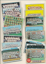Topps Baseball TEAM CARDS.Lot of 15 cards. Great shape. 60's & 70's.Incl... - $5.99