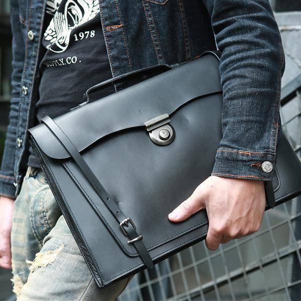 Sale, Handmade Men Tote Bag, Full Grain Leather Men Briefcase, Vintage Shoulder