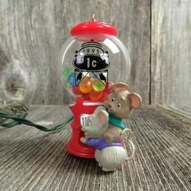 Vintage Mouse Goody Gumballs Christmas Ornament Candy Magic Gum Hallmark... - $31.99