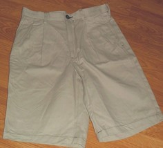 *ROUNDTREE & YORKE MEN'S SHORTS SIZE 30 TAN EXPANDER WAIST 100% COTTON NWT - $16.99