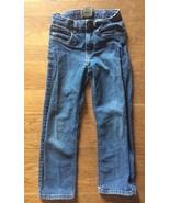 Boys Urban Star Jeanswear Size 7 Dark Blue Denim Jeans Adjustable Waist - $11.64