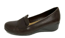 Naturalizer N5 Comfort Ashley women's wedge shoes slip on brown leather size 9M - $19.69