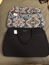 BNWTS VERA BRADLEY GRAND TRAVELER TOTE TRAVEL BAG CLASSIC NAVY & MARRAKESH - $89.09+