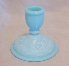 Imperial Glass Blue Candlestick Threaded Top - $14.85