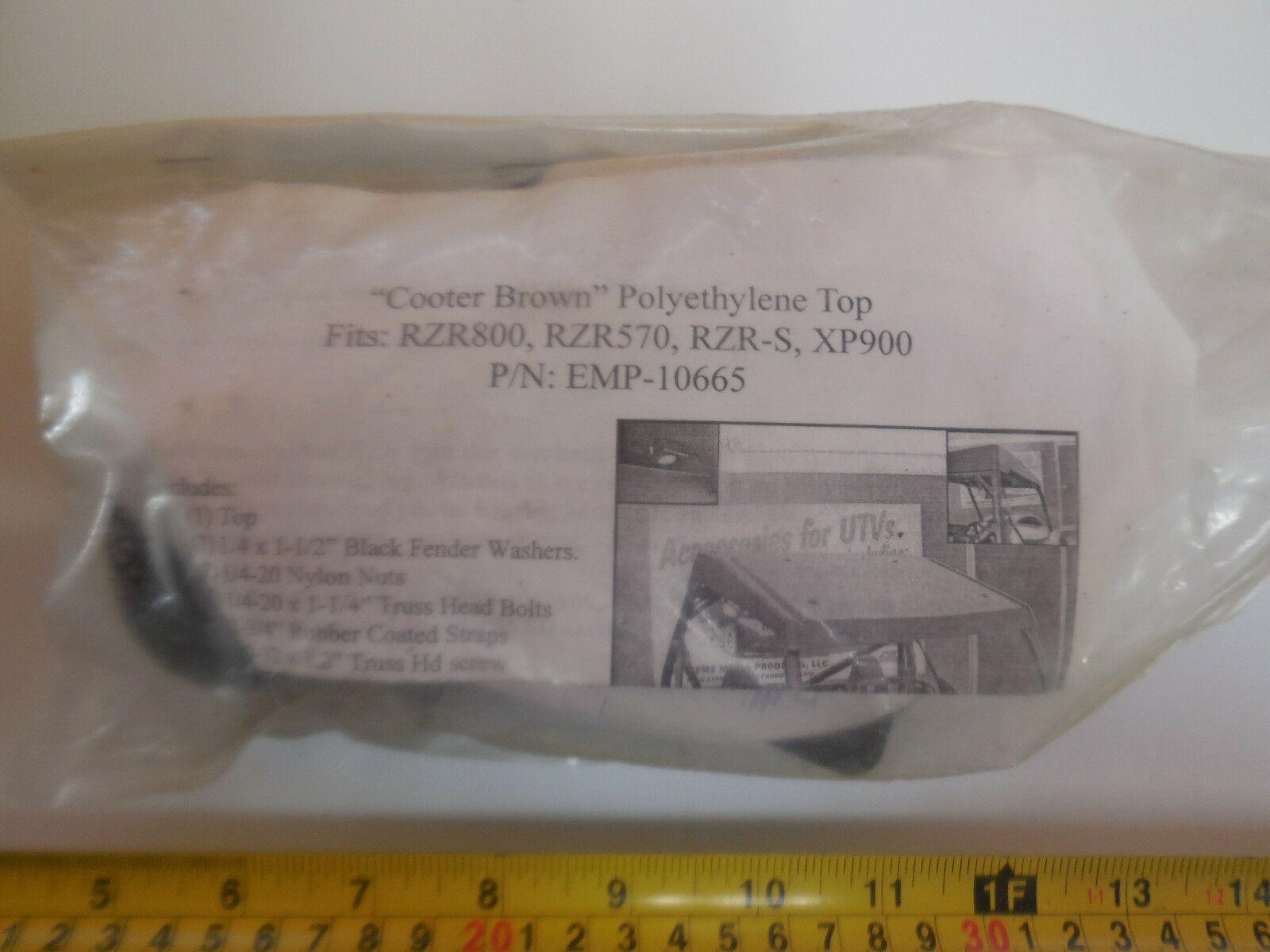 EMP-10665 Cooter Brown Polyethylene Top Hardware Kit for Polaris