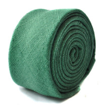 Frederick Thomas dark green linen tie FT1643 RRP£19.99