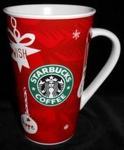 2009 Starbucks LOVE/HOPE/WISH/PEACE/BRIGHT 16 oz Holiday COFFEE MUG - $14.84