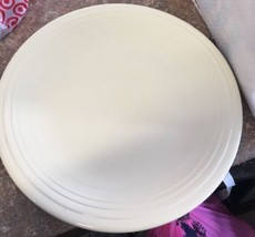 Vintage Homer laughlin Fiesta 14 Inch Chop Plate Platter Pale Yellow - $24.74