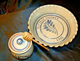 Daviess County Westerwald Stoneware Honey Jar & Pie Plate AA-191830 image 4
