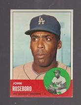 1963 Topps # 487 Johnny Roseboro Los Angeles Dodgers EXCELLENT + - $20.00