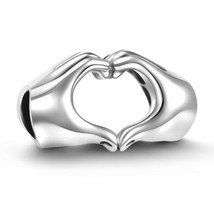 925 Sterling Silver Love Heart Charm Fit for Pandora/European Style Char... - $57.14
