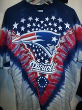 NEW ENGLAND PATRIOTS  NEW  Tie Dye V Dye T-Shirt image 1